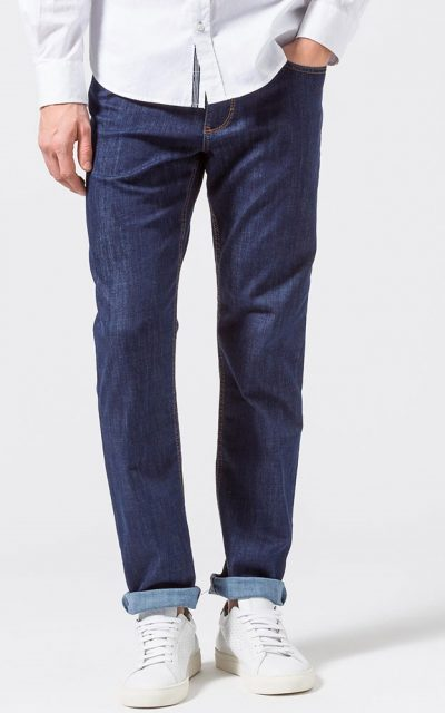 Brax Cooper Jeans - Mens Masterpiece Denim Regular Fit - Blue-Black