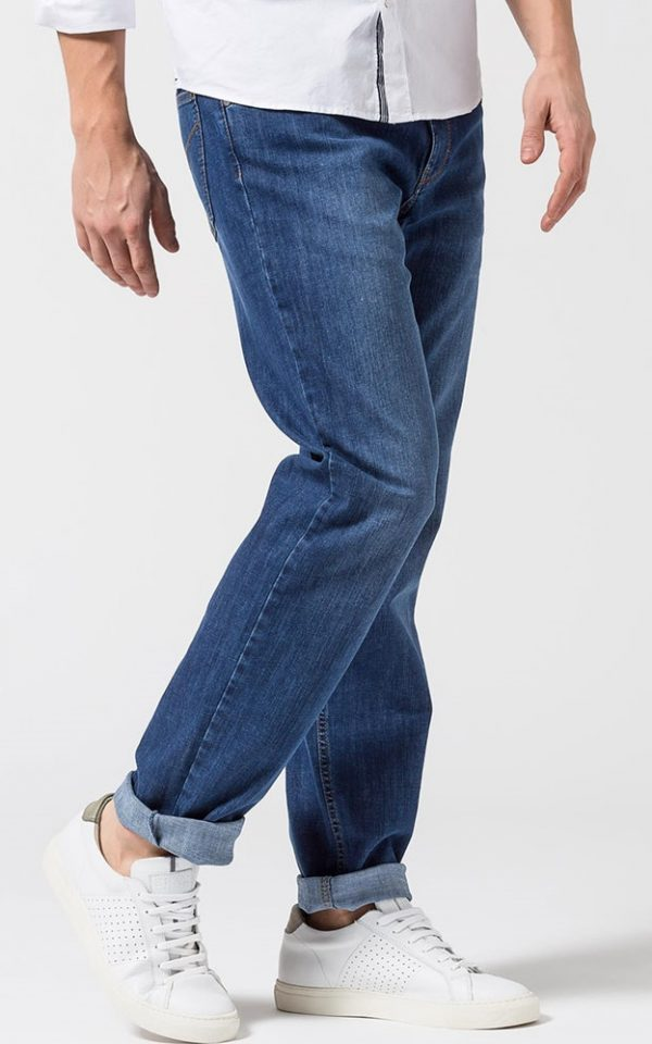 Brax Cooper Jeans - Mens Masterpiece Denim Regular Fit - Regular Blue