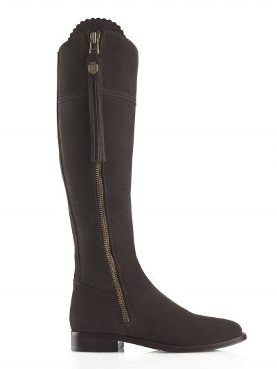 FAIRFAX & FAVOR Boots - Ladies Flat Regina - Chocolate Suede