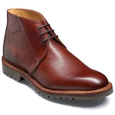Barker Fortrose Chukka Boots Vibram Sole - Cherry Grain / Calf