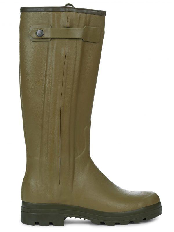 LE CHAMEAU Boots - Mens Chasseur Leather Lined - Vert Vierzon
