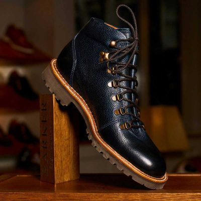 Barker Glencoe Men's Hiking Boots - Navy Grain