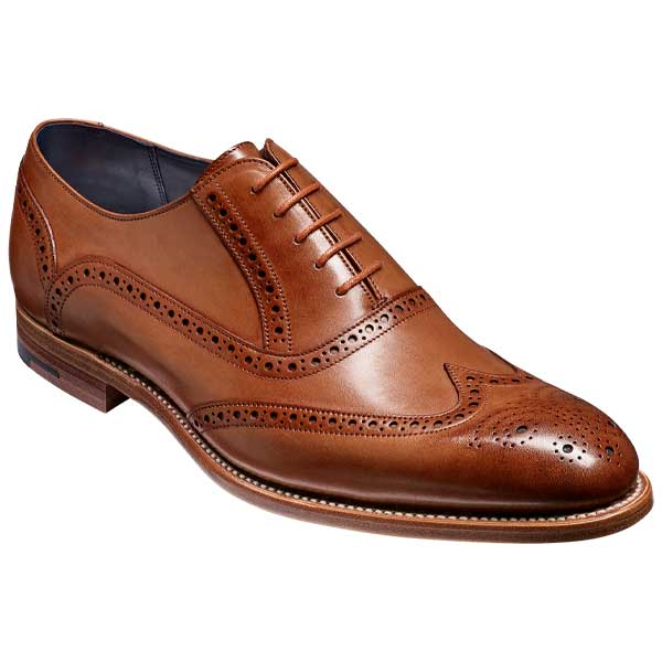 BARKER-Valiant-Shoes-–-Mens-Brogue-Shoes-–-Brown-Hand-Painted