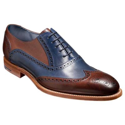 BARKER-Valiant-Shoes-–-Mens-Brogues-–-Ebony-&-Navy-Hand-Painted