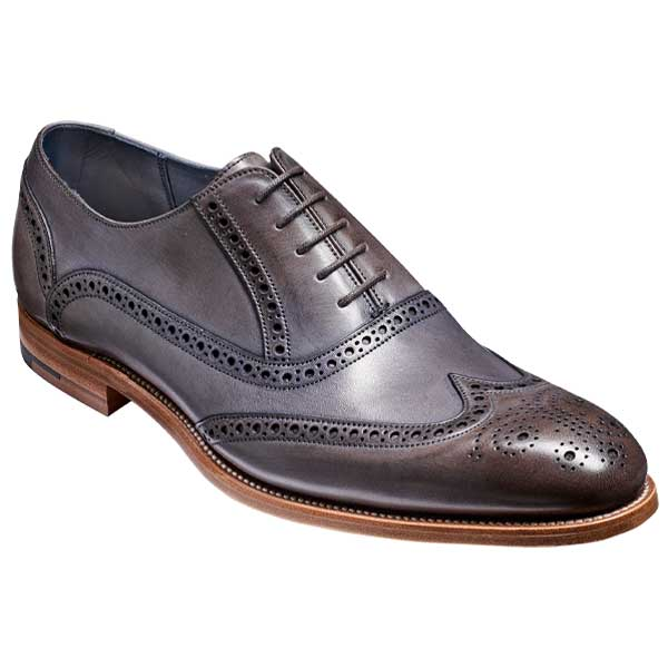 BARKER-Valiant-Shoes-–-Mens-Brogues-–-Grey-Hand-Painted