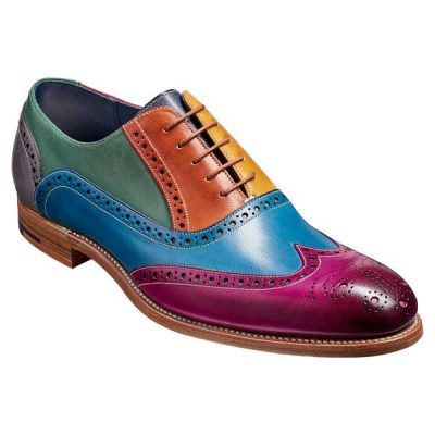 BARKER-Valiant-Shoes-–-Mens-Brogues-–-Multicoloured-Hand-Painted