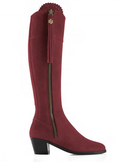 FAIRFAX & FAVOR Boots - Ladies Heeled Regina - Oxblood Suede