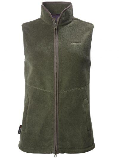 MUSTO Gilet - Ladies Glemsford Polartec® Fleece - Dark Moss