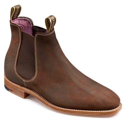 Barker Gina Ladies Chelsea Boots Mid Brown Waxy