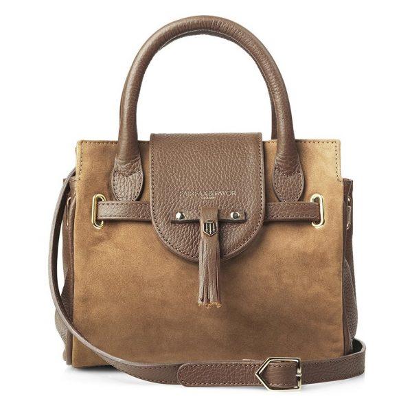 Fairfax & Favor Mini Windsor Handbag - Tan Suede