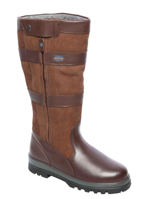 DUBARRY Wexford Zip-Up Boots - Waterproof Gore-Tex Leather - Walnut