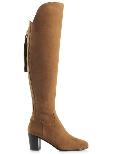 FAIRFAX & FAVOR Boots - Ladies Heeled Amira - Tan Suede