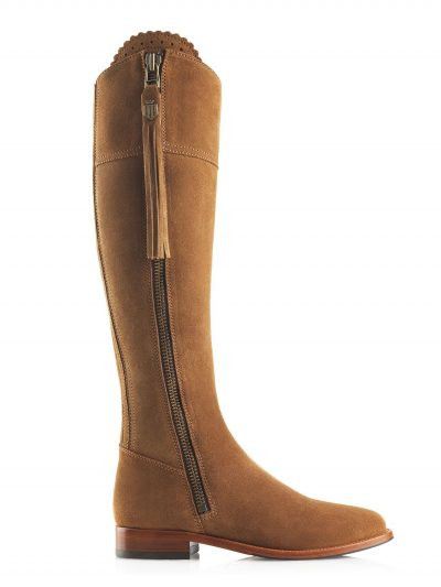 FAIRFAX & FAVOR Boots - Ladies Flat Regina - Tan Suede