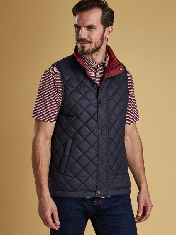 BARBOUR Gilet - Mens Ampleforth Quilted - Navy