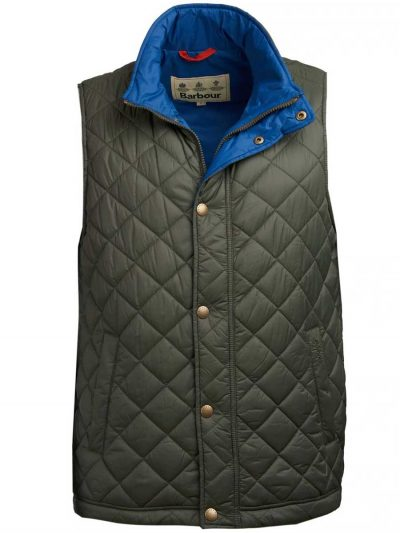 BARBOUR Gilet - Mens Ampleforth Quilted - Olive