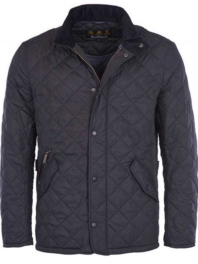 BARBOUR Jacket - Mens Chelsea Sportsquilt Tailored Fit - Navy