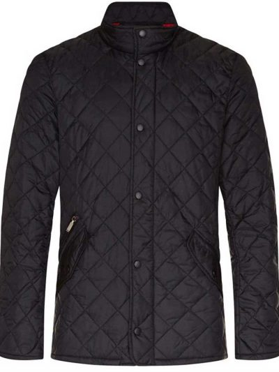 BARBOUR Jacket - Mens Chelsea Flyweight Quilted - Black