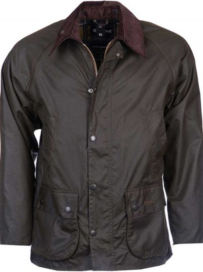 BARBOUR Wax Jacket - Mens Classic Bedale - Olive