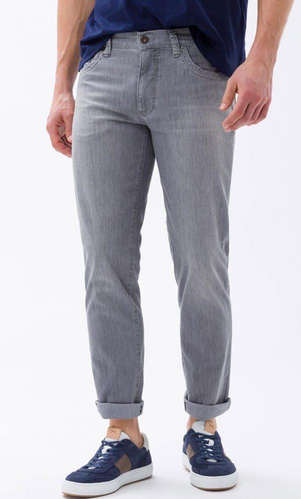 Brax Cadiz Jeans - Mens Ultra Light Denim Regular Fit - Grey