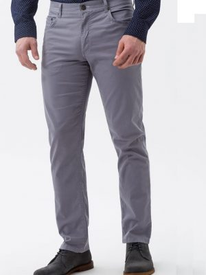 BRAX Chinos - Mens Cooper Fancy Cotton - Smoke Grey