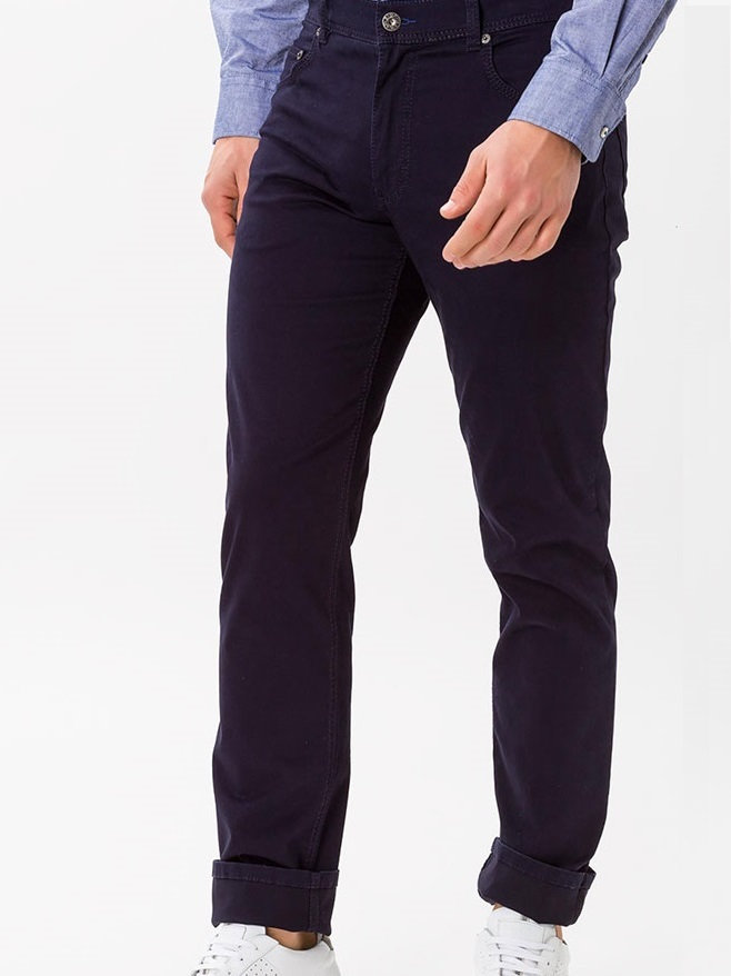 BRAX Chinos - Mens Cooper Fancy Cotton - Perma Blue