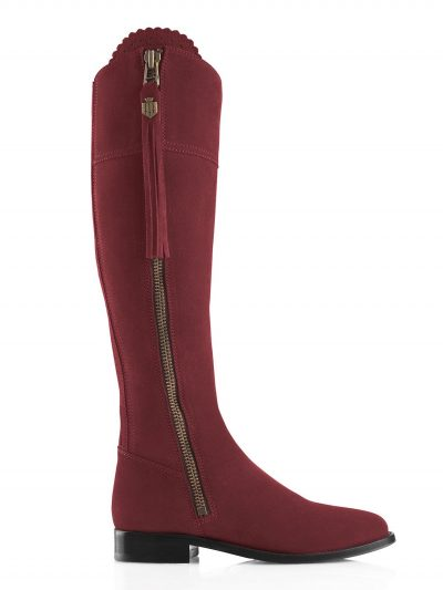 FAIRFAX & FAVOR Boots - Ladies Flat Regina - Oxblood Suede