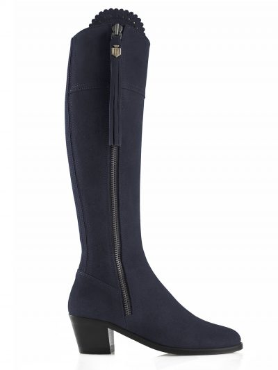 FAIRFAX & FAVOR Boots - Ladies Heeled Regina - Navy Suede