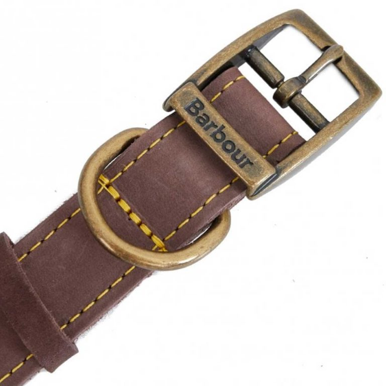 BARBOUR Leather Dog Collar - Brown