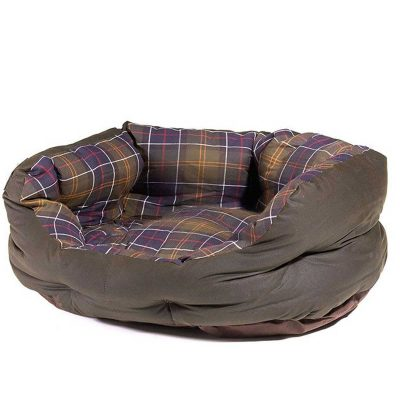 BARBOUR Wax & Cotton Dog Bed - Classic Tartan