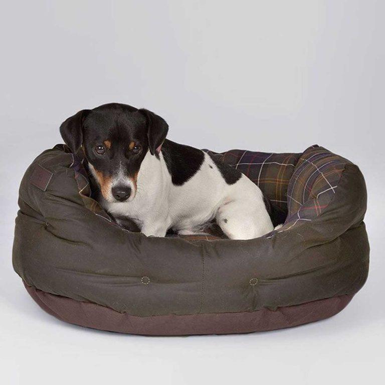 BARBOUR Wax & Cotton Dog Bed - Classic Tartan