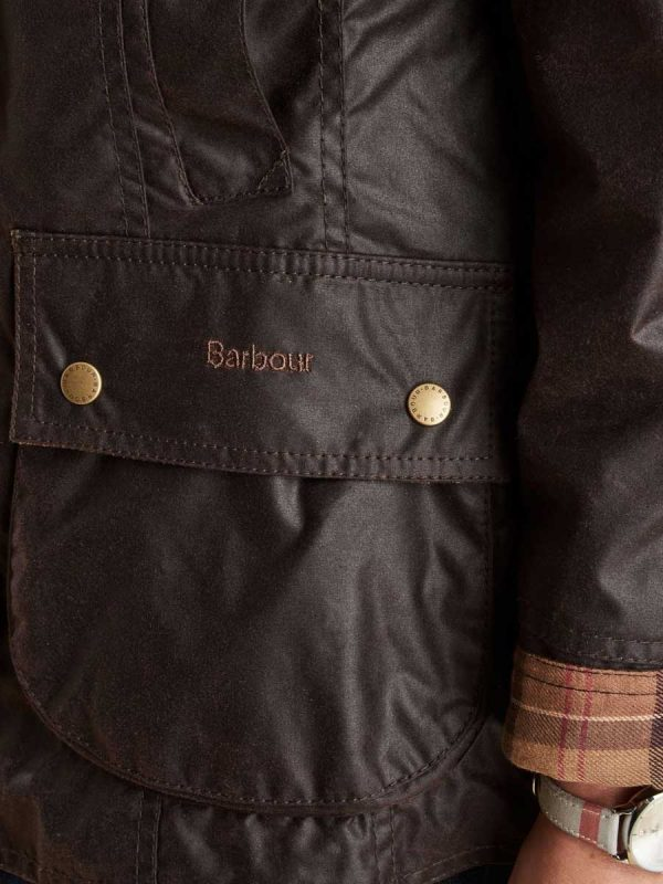 BARBOUR Wax Jacket - Ladies Beadnell - Rustic