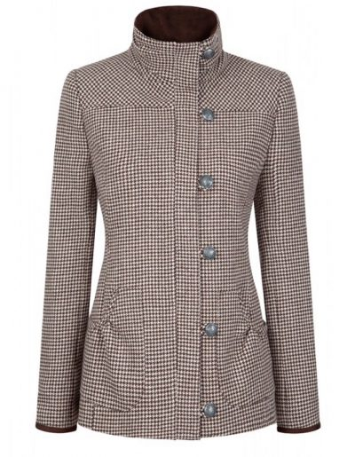 Dubarry Bracken Ladies Tweed Jacket - Cafe