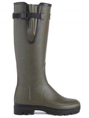 LE CHAMEAU Boots - Ladies Vierzonord Neoprene Lined - Vert Chameau