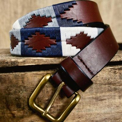 PAMPEANO Polo Belt - Roca - Navy Grey & White
