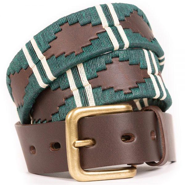 Pioneros-Polo-Belt-123-Green-White-Stripe