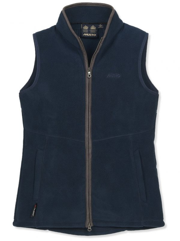 MUSTO Gilet - Ladies Glemsford Polartec® Fleece - True Navy