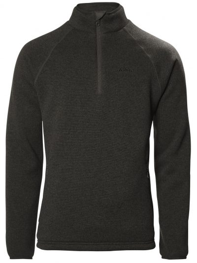 MUSTO 1/2 Zip Jacket - Mens Super Warm Polartech® Windjammer Fleece - Liquorice