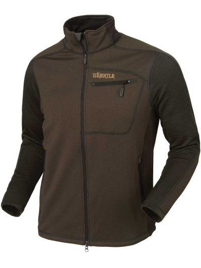 HARKILA Jacket - Mens Vestmar Hybrid Fleece - Slate Brown Melange