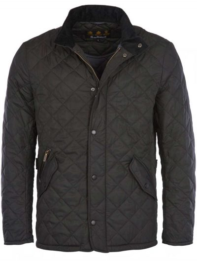 BARBOUR Jacket - Mens Chelsea Sportsquilt Tailored Fit - Black