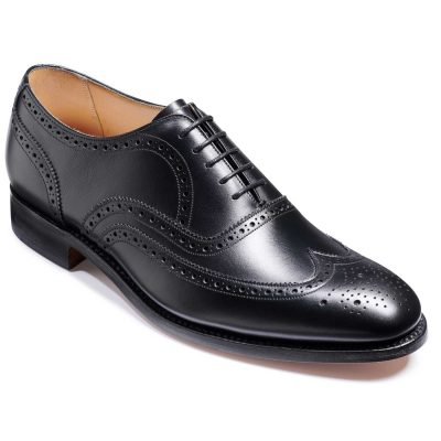Barker Malton Shoes - Oxford Brogue - Black Calf