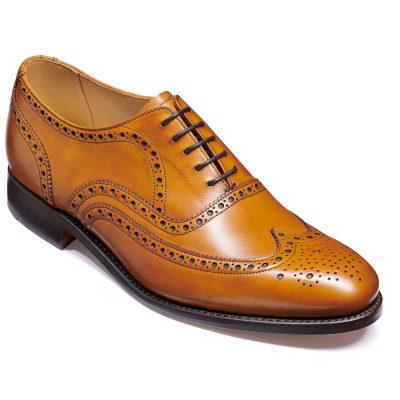 Barker Malton Shoes - Oxford Brogue - Cedar Calf