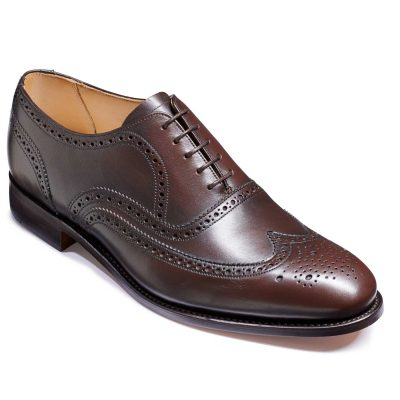 Barker Malton Shoes - Oxford Brogue - Espresso Calf