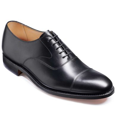 Barker Malvern Shoes - Toe Cap Oxford - Black Calf