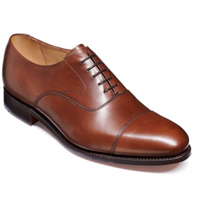 Barker Malvern Shoes - Toe Cap Oxford - Dark Walnut