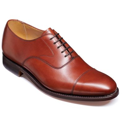 Barker Malvern Shoes - Toe Cap Oxford - Rosewood Calf