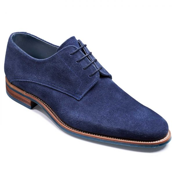 Barker Max Shoes - Derby Style - Navy Suede