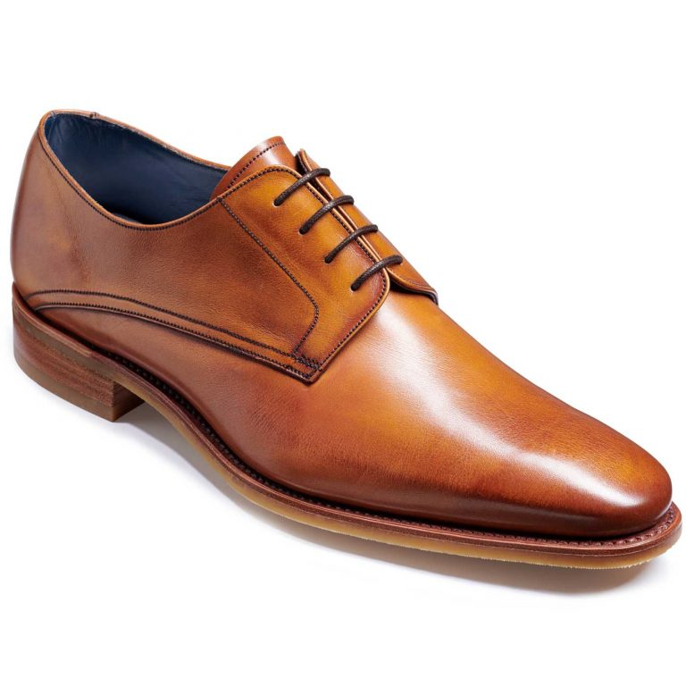 Barker Max Shoes - Derby Style - Rosewood Calf