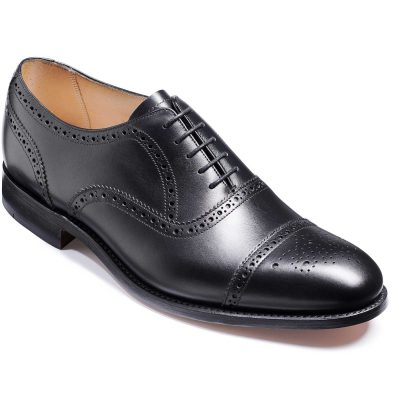 Barker Mirfield Shoes - Oxford Semi Brogue - Black Calf