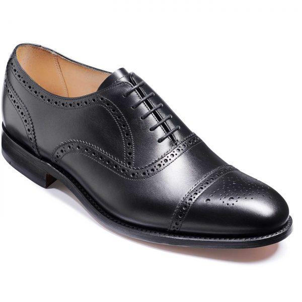 Barker Mirfield Shoes - Oxford Semi Brogue - Black Calf