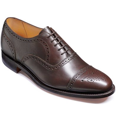 Barker Mirfield Shoes - Oxford Semi Brogue - Espresso Calf Calf